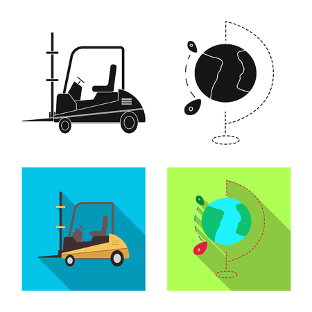 Isolated object of goods and cargo icon. Collection of goods and warehouse vector icon for stock. Illustration