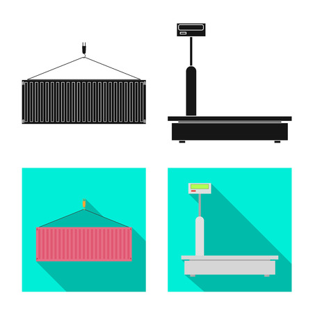 Vector illustration of goods and cargo icon. Collection of goods and warehouse stock symbol for web.