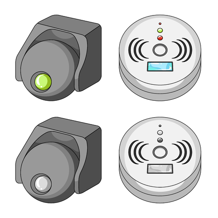 Vector design of cctv and camera icon. Collection of cctv and system stock vector illustration. Illustration
