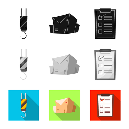 Isolated object of goods and cargo logo. Set of goods and warehouse vector icon for stock.
