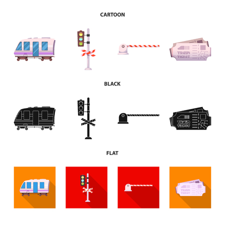 diseño del vector del tren y el logotipo de la estación . colección de camión y boleto de la compra símbolo para la web Logos