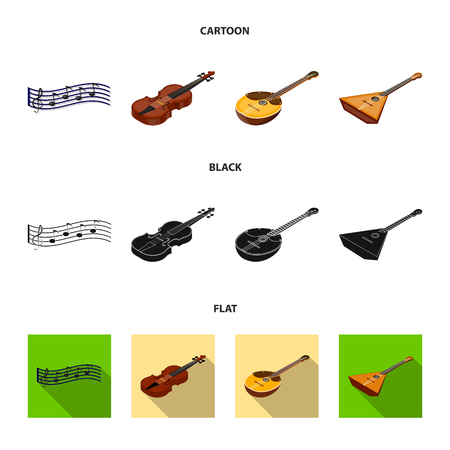 Musical instrument cartoon,black,flat icons in set collection for design. String and Wind instrument isometric bitmap symbol stock web illustration.
