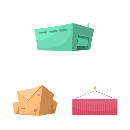 Isolated object of goods and cargo symbol. Collection of goods and warehouse vector icon for stock.