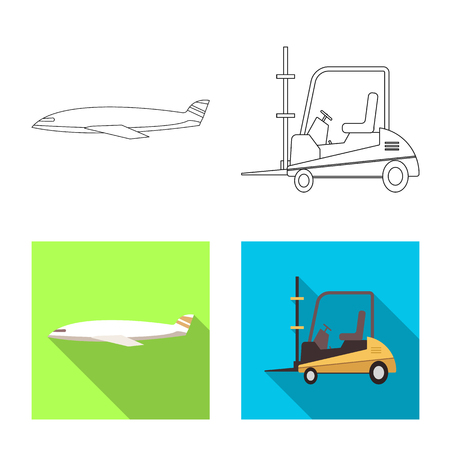 Isolated object of goods and cargo sign. Set of goods and warehouse vector icon for stock.