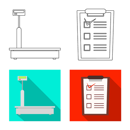 Vector design of goods and cargo icon. Set of goods and warehouse vector icon for stock.