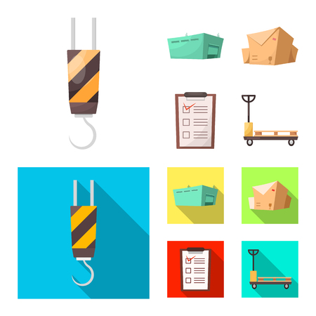 Isolated object of goods and cargo icon. Set of goods and warehouse stock vector illustration.