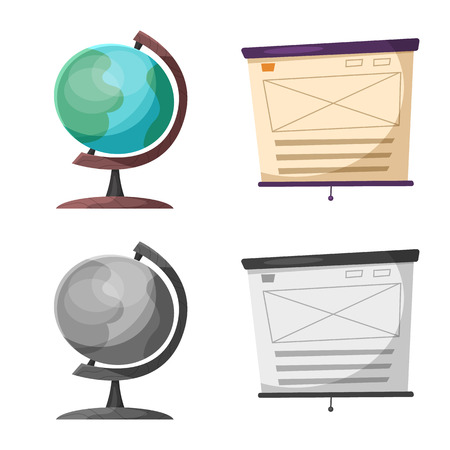 Isolated object of education and learning sign. Collection of education and school stock vector illustration. Иллюстрация