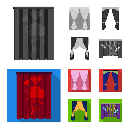 Cornices, garters, ribbon and other web icon in monochrome,flat style.Machine, textiles, furniture icons in set collection.