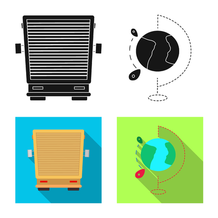Vector illustration of goods and cargo symbol. Collection of goods and warehouse vector icon for stock.