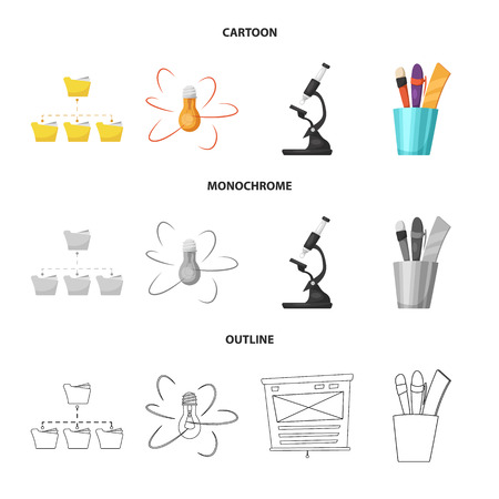 Isolated object of education and learning icon. Set of education and school stock symbol for web.