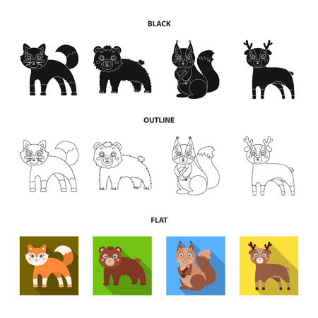 Zoo, nature, reserve and other web icon in black,flat,outline style.Artiodactyl, nature, ecology, icons in set collection.