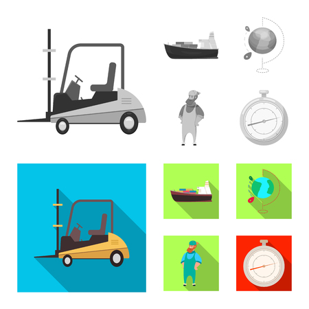 Vector illustration of goods and cargo symbol. Collection of goods and warehouse stock symbol for web.