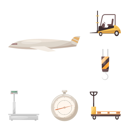 Isolated object of goods and cargo symbol. Set of goods and warehouse vector icon for stock.