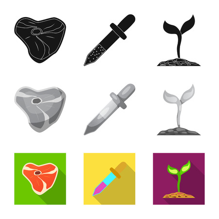 Vector design of  and  sign. Collection of  and  vector icon for stock.
