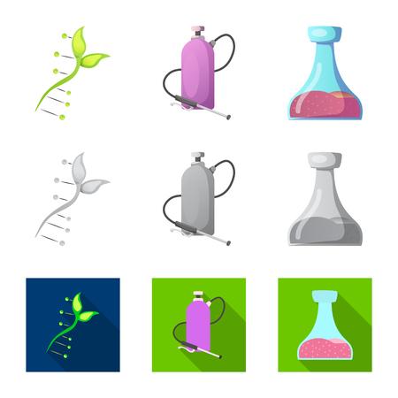 Vectorillustratie van en pictogram. Set en vector pictogram voor voorraad. Vector Illustratie