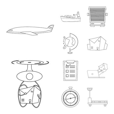 Illustration vectorielle du logo de marchandises et de fret. Collection de marchandises et illustration vectorielle stock entrepôt.
