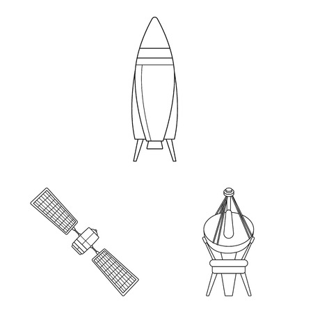 Vector design of mars and space symbol. Set of mars and planet stock vector illustration. Vectores