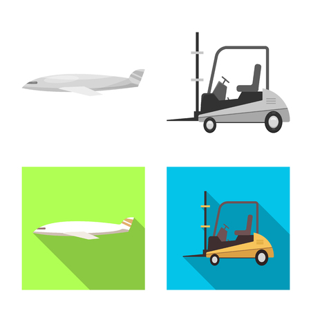 Vector design of goods and cargo symbol. Collection of goods and warehouse vector icon for stock. Vektorové ilustrace