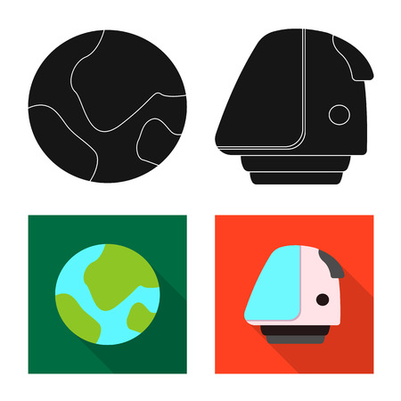 Vector design of mars and space symbol. Collection of mars and planet stock vector illustration.