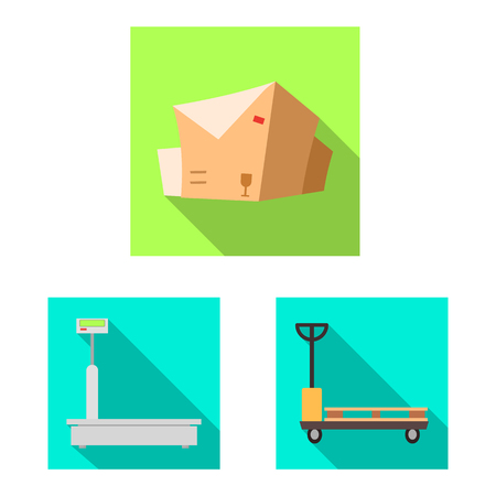 Isolated object of goods and cargo logo. Set of goods and warehouse stock vector illustration.