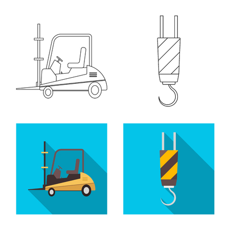 Vector illustration of goods and cargo icon. Collection of goods and warehouse stock vector illustration. Ilustrace
