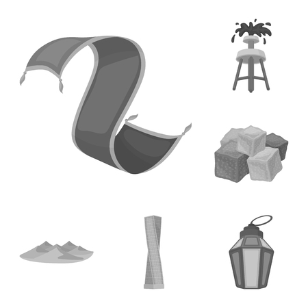 Country United Arab Emirates monochrome icons in set collection for design. Tourism and attraction vector symbol stock  illustration.