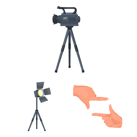 Making a movie cartoon icons in set collection for design. Attributes and Equipment vector symbol stock illustration. Ilustracje wektorowe
