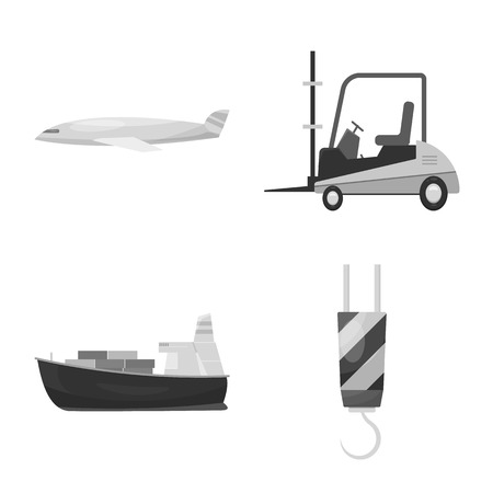 Vector illustration of goods and cargo icon. Set of goods and warehouse stock symbol for web. Ilustrace