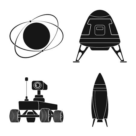 Vector design of mars and space sign. Collection of mars and planet vector icon for stock.