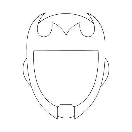 Vector design of hero and mask icon. Set of hero and superhero stock vector illustration. 向量圖像