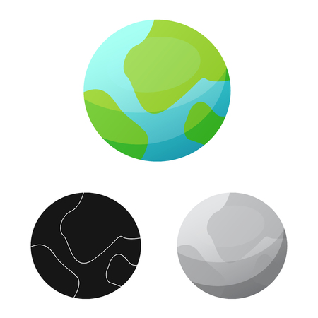 Vector design of mars and space logo. Collection of mars and planet stock vector illustration.