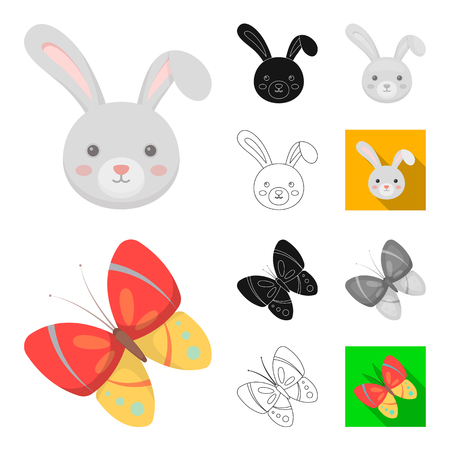Easter is a Christian holiday cartoon,black,flat,monochrome,outline icons in set collection for design. Easter attributes bitmap symbol stock web illustration.