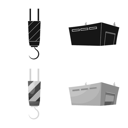 Vector illustration of goods and cargo icon. Set of goods and warehouse vector icon for stock.