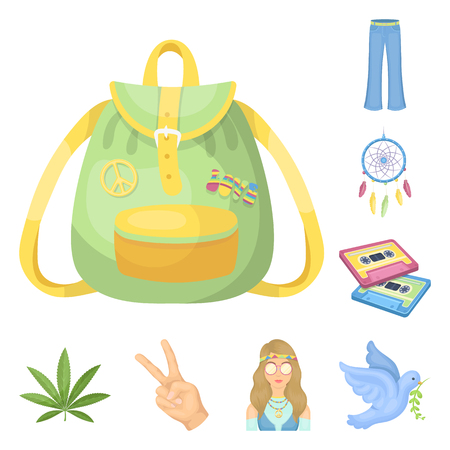 Happy and attribute cartoon icons in set collection for design. Happy and accessories vector symbol stock web illustration. Illustration