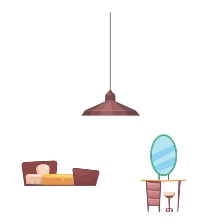 Vector design of furniture and apartment logo. Set of furniture and home stock vector illustration.