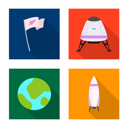 Vector design of mars and space logo. Set of mars and planet vector icon for stock. Illustration