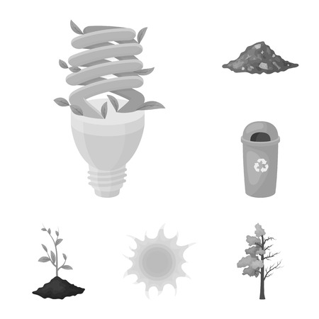Bio and ecology monochrome icons in set collection for design. An ecologically pure product vector symbol stock web illustration. Stock Illustratie