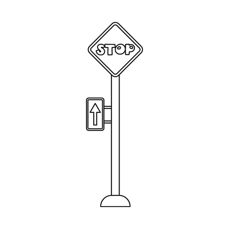Isolated object of train and station sign. Set of train and ticket stock symbol for web.