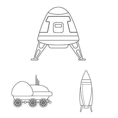 Vector design of mars and space symbol. Set of mars and planet vector icon for stock.