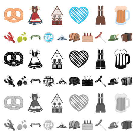 Interior of the workplace cartoon icons in set collection for design. Office furniture vector symbol stock  illustration.