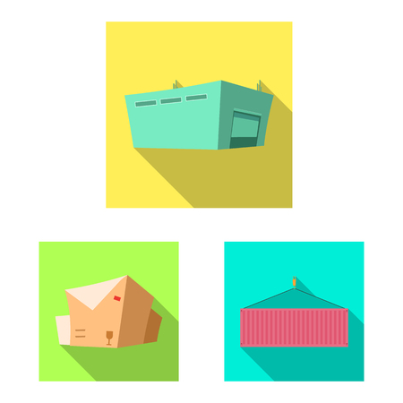 Isolated object of goods and cargo icon. Collection of goods and warehouse stock vector illustration. Banco de Imagens - 109193230