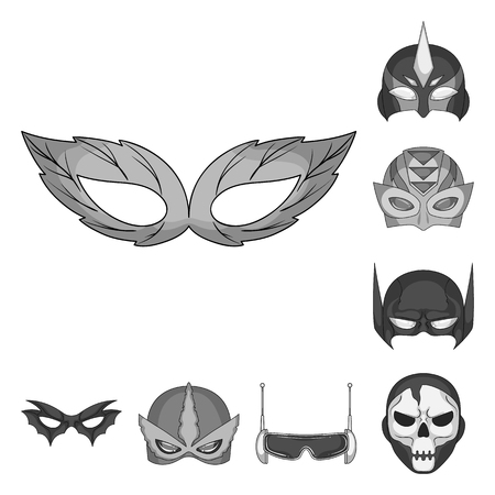Vector design of hero and mask icon. Collection of hero and superhero vector icon for stock.