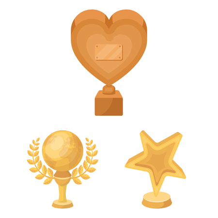 Film awards and prizes cartoon icons in set collection for design. The World Film Academy bitmap symbol stock web illustration. Stockfoto