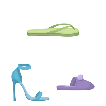 A variety of shoes cartoon icons in set collection for design. Boot, sneakers bitmap symbol stock web illustration. 版權商用圖片 - 109228384