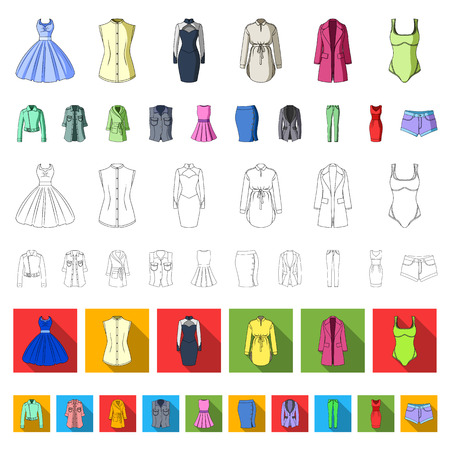 Types of female hairstyles cartoon icons in set collection for design. Appearance of a woman vector symbol stock illustration.