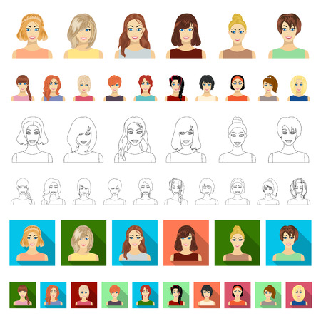 Women s Clothing cartoon icons in set collection for design.Clothing Varieties and Accessories vector symbol stock illustration. Illustration