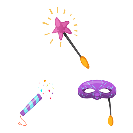 Vector illustration of party and birthday icon. Collection of party and celebration vector icon for stock.