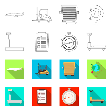 Vector design of goods and cargo sign. Collection of goods and warehouse vector icon for stock. Vectores