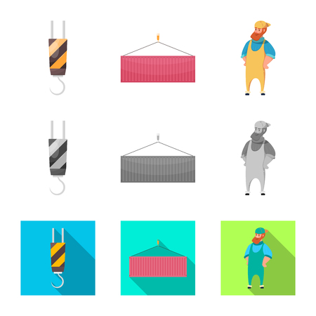 Isolated object of goods and cargo sign. Collection of goods and warehouse vector icon for stock.