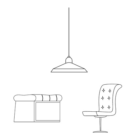 Vector design of furniture and apartment logo. Set of furniture and home stock symbol for web. Vectores
